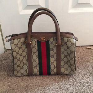 Gucci Brown GG Speedy Vintage